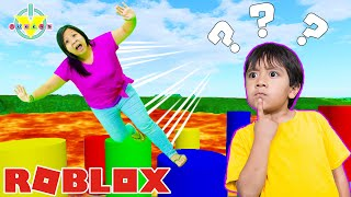 Ryan Vs Mommy ROBLOX TRIVIA OBBY! Let's Play Roblox with VTubers