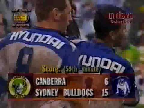 John Timu Try 1995 Semi Final Canterbury v Canberra
