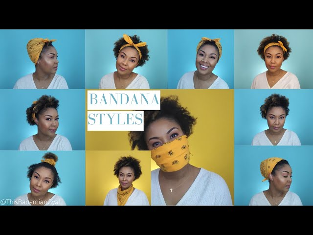 Bandana Hairstyles For Natural Hair | Bandana Hairstyle | Bandana Face Mask | This Bahamian Gyal