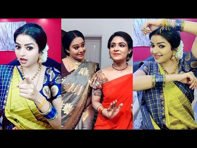 Nandhini Serial Tik Tok Ft.Nithya Ram Malavika