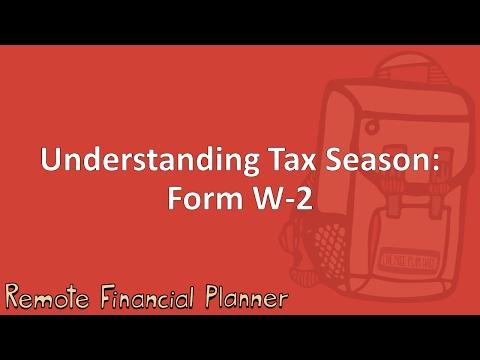 Understanding Tax Season: Form W-2