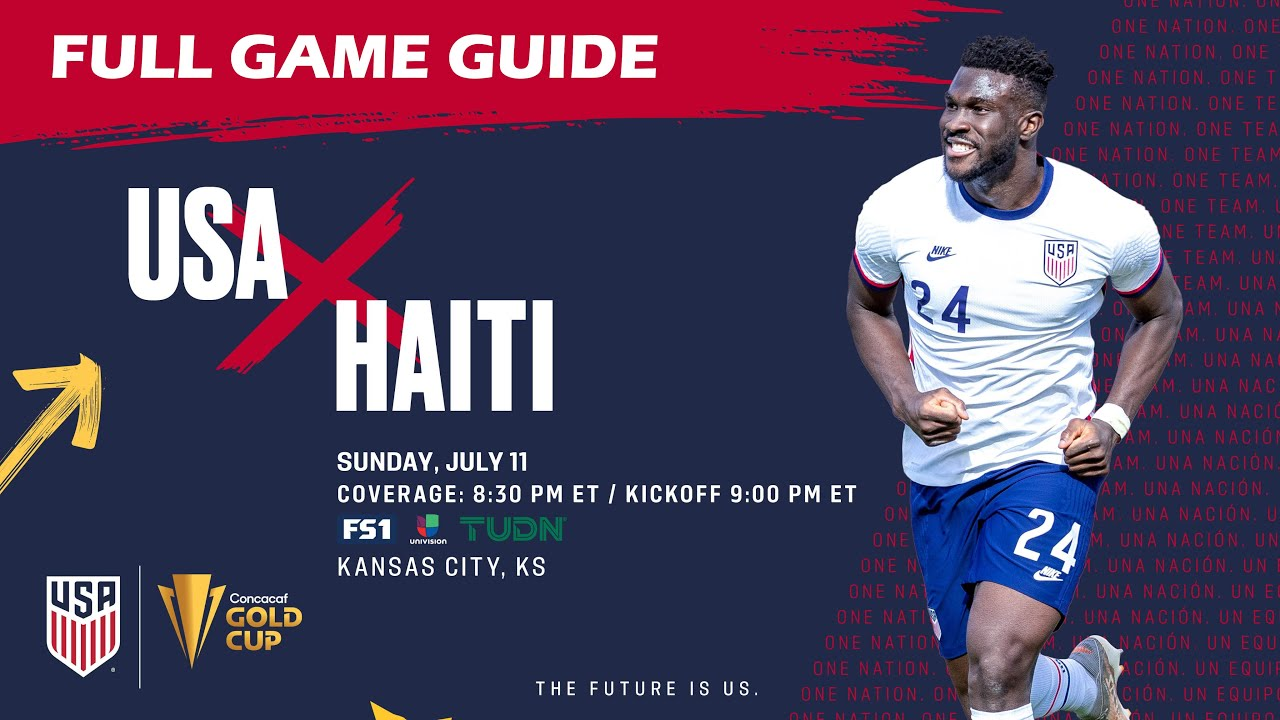 AND SO IT BEGINS: USMNT starts Gold Cup against Haiti Sunday ...