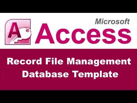 Record File Management Database Template for Microsoft Access