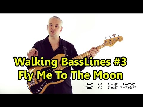 Walking Basslines #3 - Using Chord Tones: Fly Me To The Moon
