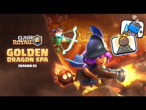 Clash Royale: ☁️🐲 Golden Dragon Spa 🐲☁️ New Season has Arrived!