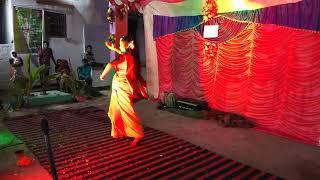 Durga maa song dance. Akash and Haimanti.