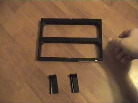 Lego Minifig wall display system - using Ikea Ribba frame - YouTube