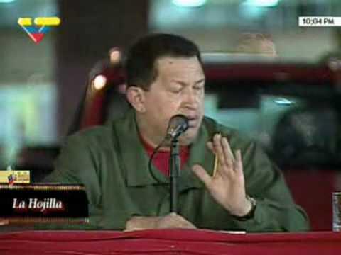 CHAVEZ Reacciona publicamente ante condiciones de créditos del BANCO DE VENEZUELA Parte 1 de 2