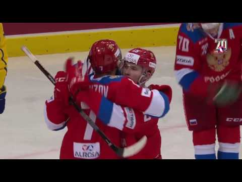 Хет-трик Капризова помог сборной России обыграть шведов в матче Шведских игр