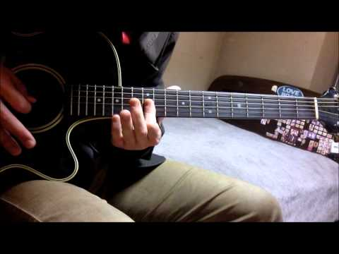Naruto Shippuuden OP 7 - Toumei Datta Sekai guitar cover (overdub)