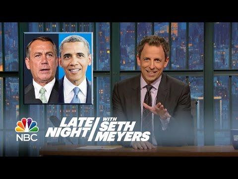 Bye-Bye Boehner - Late Night with Seth Meyers