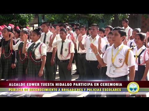 INFORME ALCALDE EDWER TUESTA PARTICIPA EN CEREMONIA PÚBLICA DE RECONOCIEMIENTO A BRIGADIERES Y POLIC