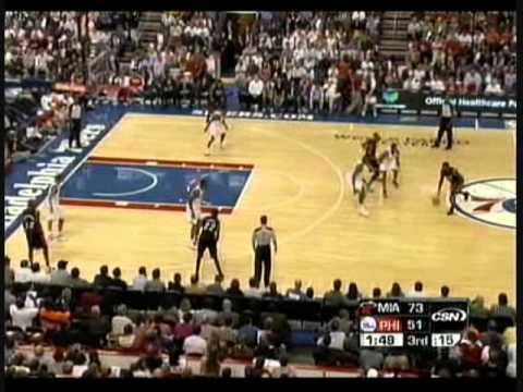 Miami Heat vs. Philly 76ers-lebron james and d-wade highlights