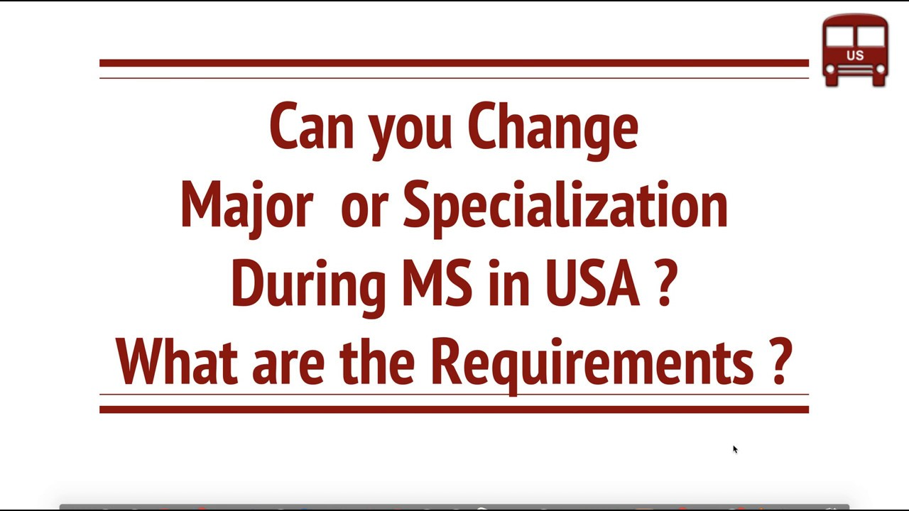 Can you Apply to different Specialization or Major for MS in USA