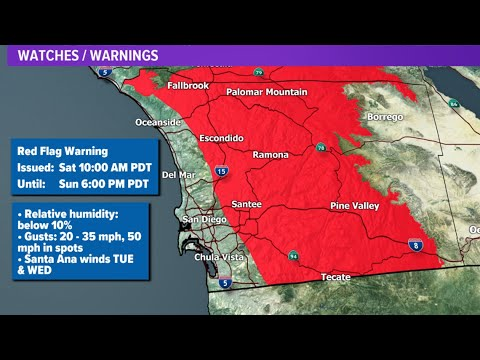 Map: Valley Fire evacuations in San Diego County