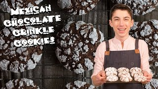 Mexican Chocolate Crinkle Cookies | Chef Eitan Bernath