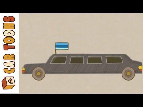Car Toons: A Presidential Motorcade. A Cartoon for Kids.