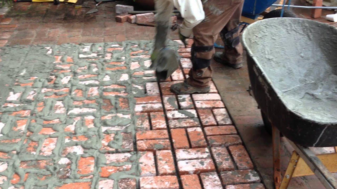 Encino Brick Work New Brick Floor For Your Patio Shafran