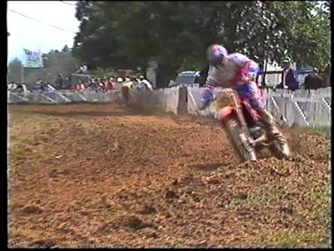 Jeff Leisk at the 1990 French 500 MXGP