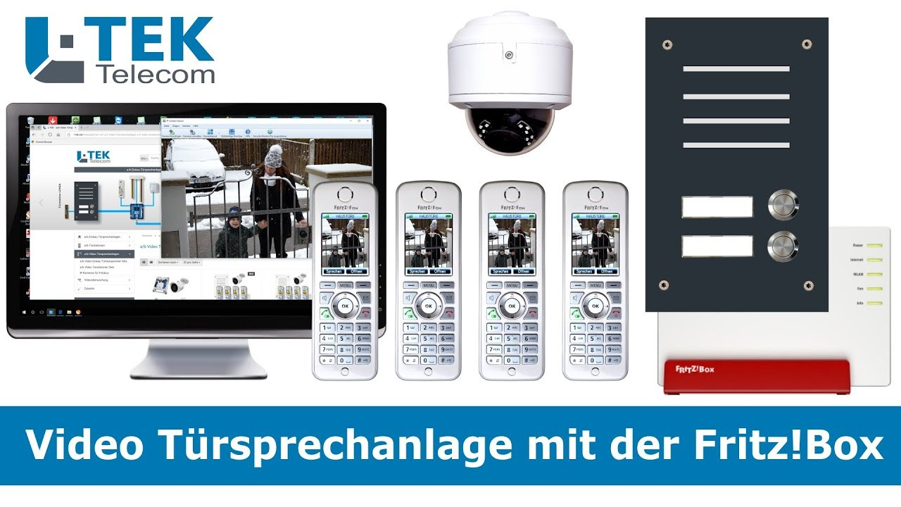 video türsprechanlage mit der fritzbox - youtube