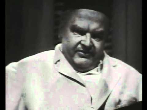 "Benny Hill imitating Peter Lorre in ""Casablanca"""