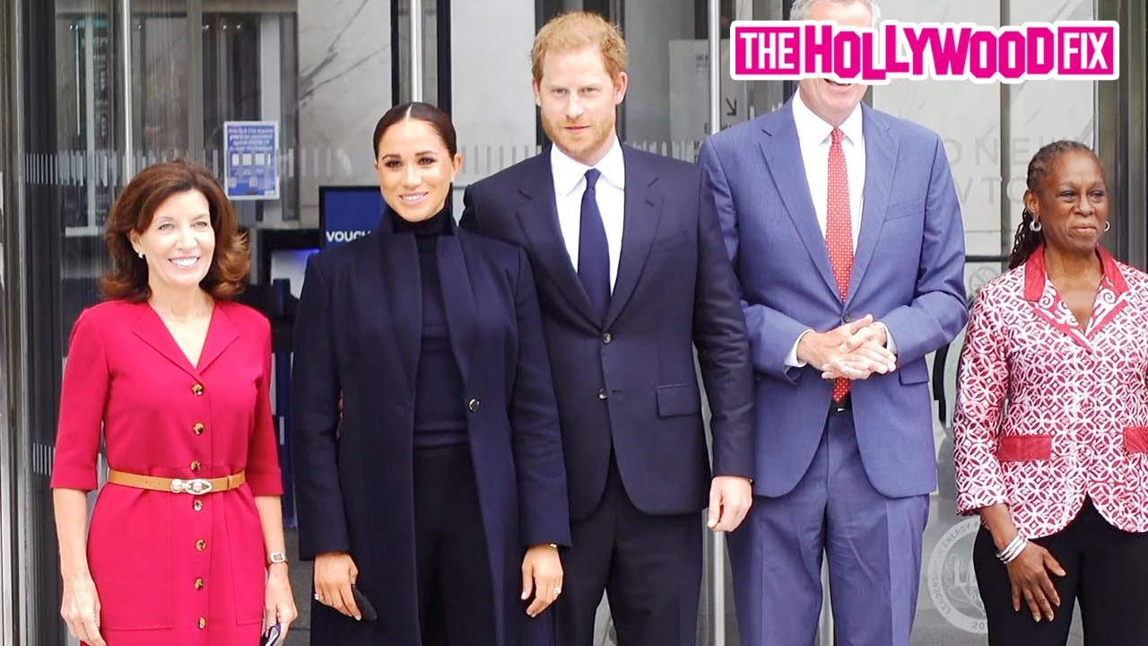 Prince Harry, Meghan Markle, Governor Hochul & Mayor DiBlasio Visit The 1 World Trade Center In N.Y.
