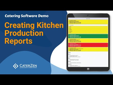 Catering Kitchen Production Reports