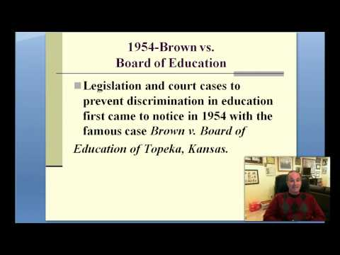 Part 1--History of Legal Issues in Special Education