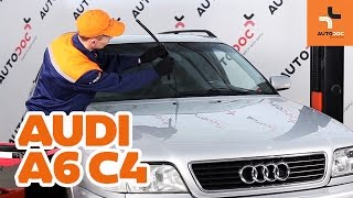 How to replace Disk pads on AUDI A6 (4A, C4) - video tutorial