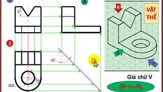 🚗 Vẽ kĩ thuật - Công nghệ 11 ( Cách vẽ chi tiết và Đáp án đầy đủ nhất )