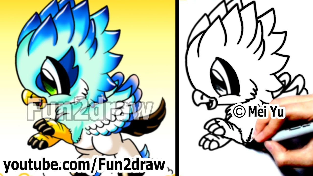 How To Draw Cool Stuff  Fantasy Hippogriff  Fun Things To Draw  Art  Lessons  Fun2draw