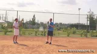 Уроки большого тенниса  Правильная подача мяча