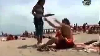 Хахаха, скрытая камера на пляже, Новые Приколы, Шутки, Смешн