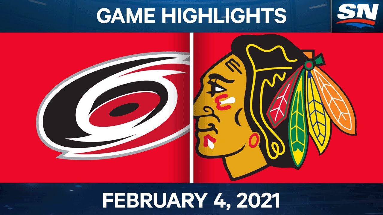 NHL Game Highlights | Hurricanes vs. Blackhawks - Feb 4, 2021 - SPORTSNET