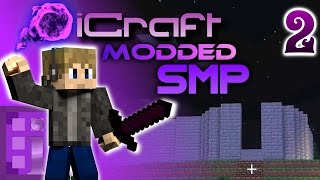 Starting On The Base! - iCraft Modded SMP Episode 2 - [1.10 Modded SMP]