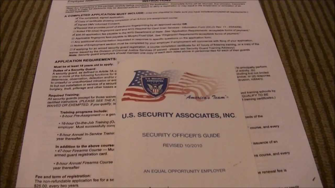 What Security License