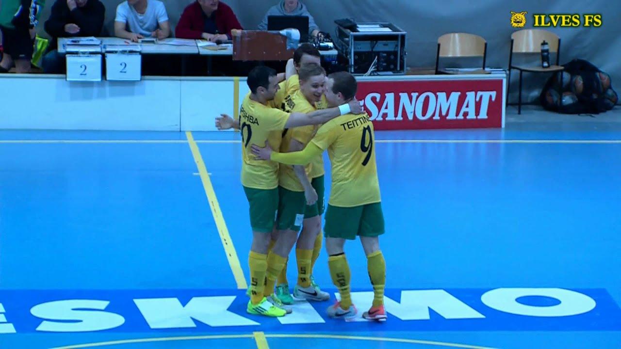 Ilves FS-GFT 3-0 (2-0) Futsal-Liiga 3. välierä 9.4.14 maalit - YouTube