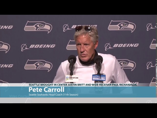 Pete Carroll on Visits by Britt and Richardson 2020-08-28
