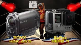 Sony HDR AS-15 ActionCam Camera vs GoPro Hero 4 Silver Edition