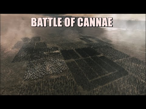 BATTLE OF CANNAE L 216 BC Rome Vs Carthage L Hannibal's One Of The Greatest Victories L Cinematic