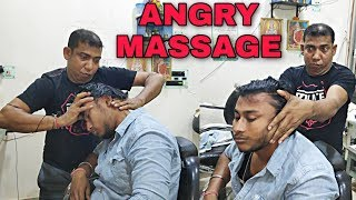 Neck cracking with SWAG | Stress relief Head & body massage therapy by Indian barber | ASMR