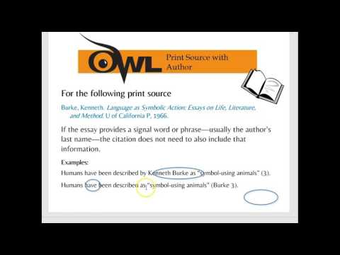 MLA In-text Citations OWL
