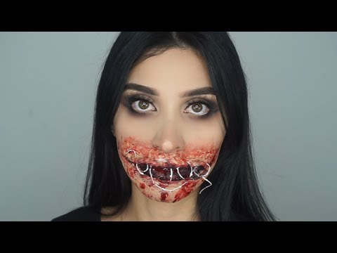 Sewed Shut Mouth | SFX Halloween Makeup Tutorial 💀