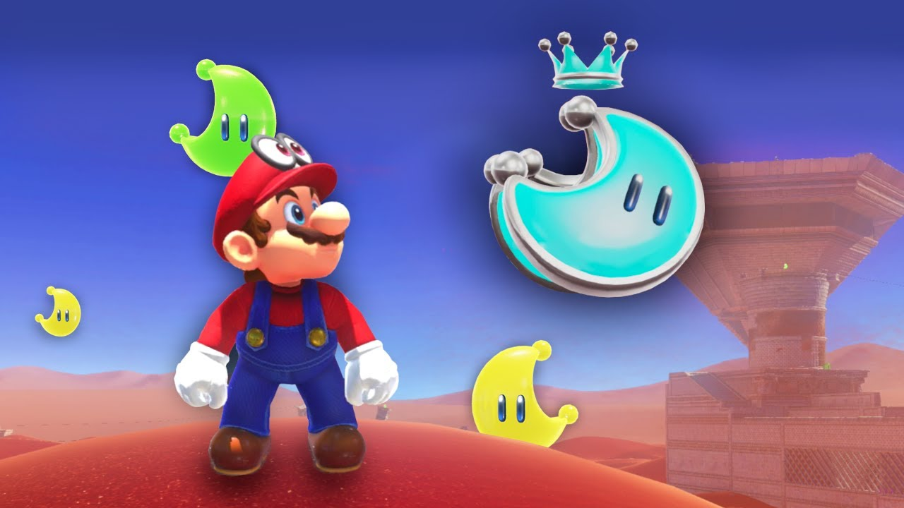 Mario Odyssey but all the Moons are wrong (also its a race)