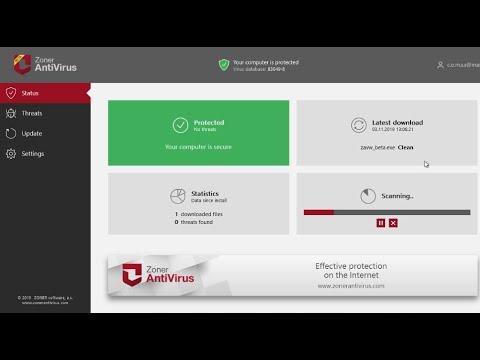 Тестирование Zoner AntiVirus для Windows