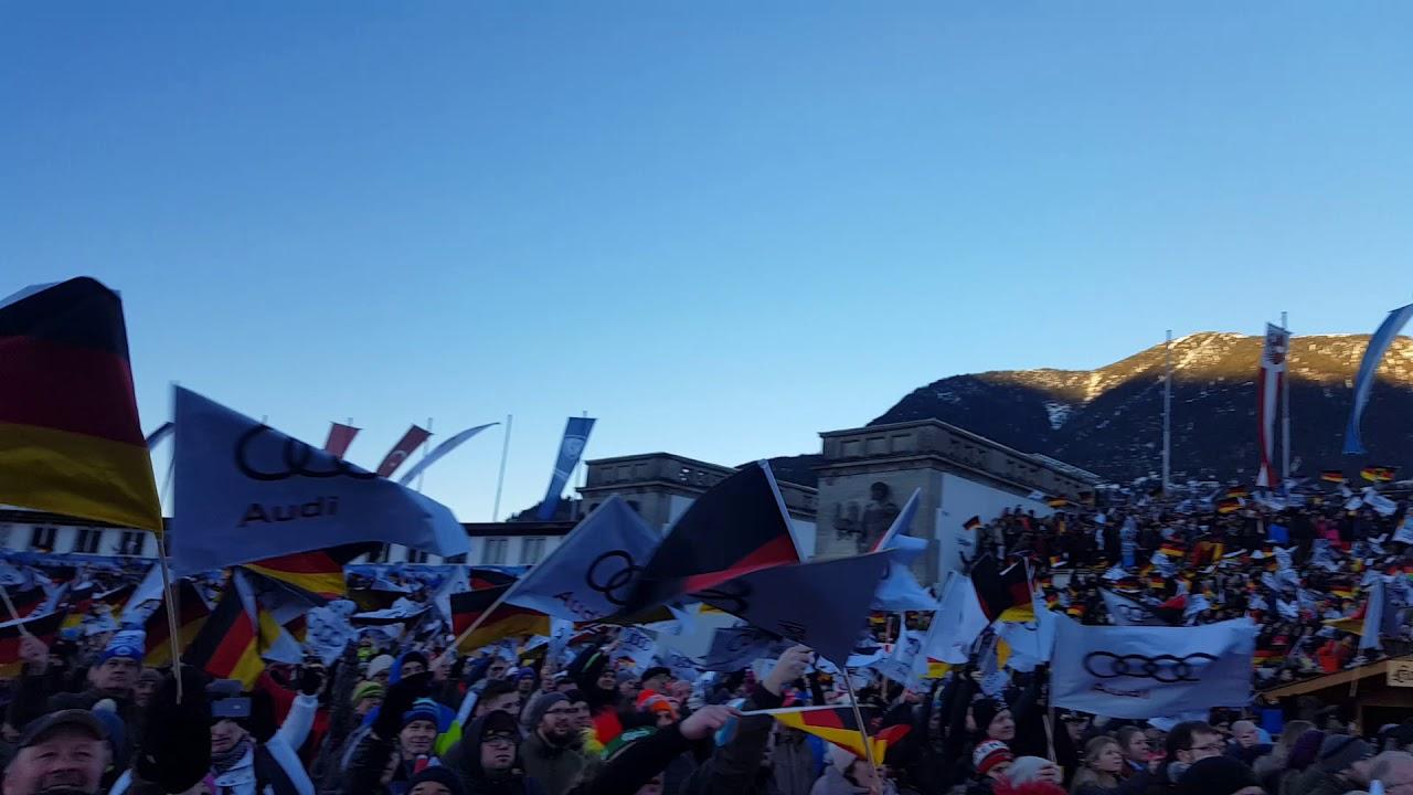 Gute Stimmung zum Neujahrsspringen in Garmisch ...