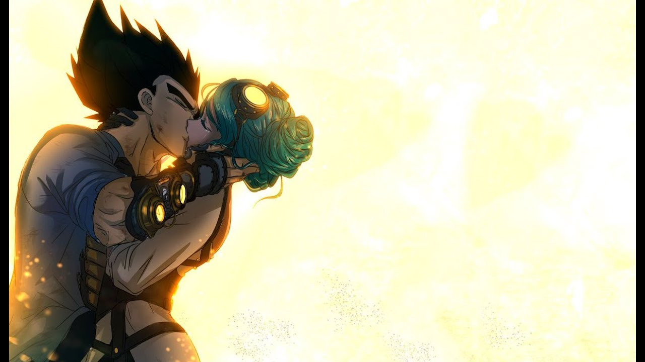 Download Vegeta and Bulma's First Kiss