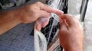 FÁCIL  FÁCIL Como fazer tarrafa com pano de rede encabeçado FÁCIL FÁCIL.