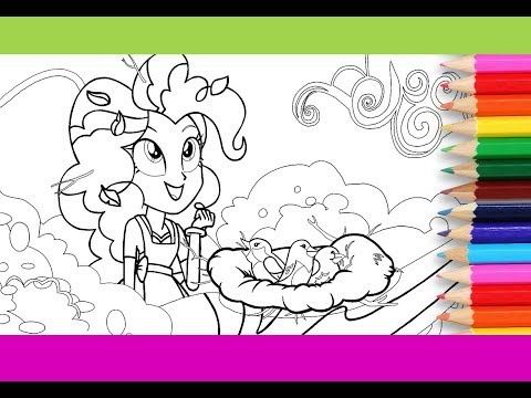 My little pony Equestria girls coloring for kids 'The Art of Friendship' MLP