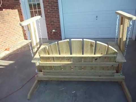 Porch swing glider, check it out. - Porch Swing Glider, Check It Out. - YouTube